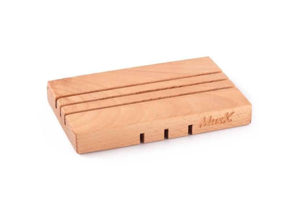 MUSK Mýdelnička dřevěná rovná