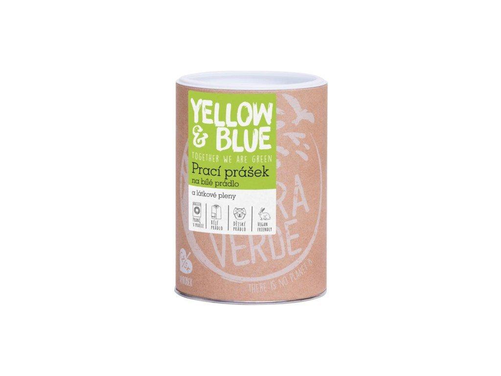 Yellow&Blue Prací prášek na bílé prádlo a látkové pleny dóza 850g