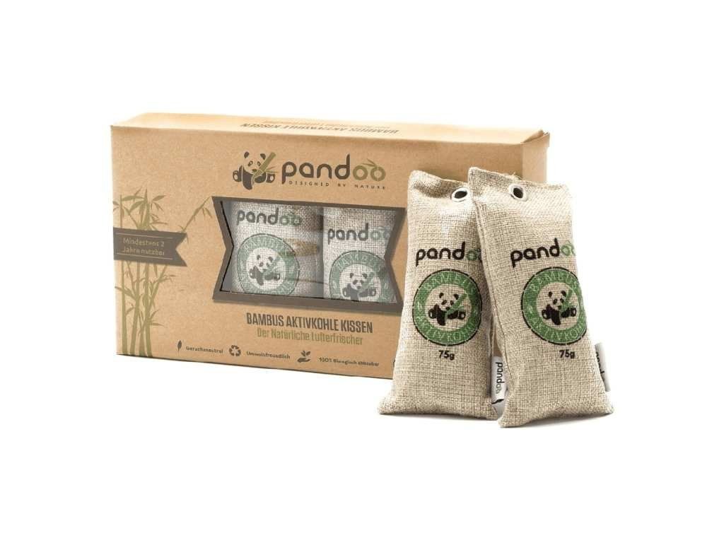 Pandoo Přírodní bambusový čistič vzduchu s aktivním uhlím 4x75g