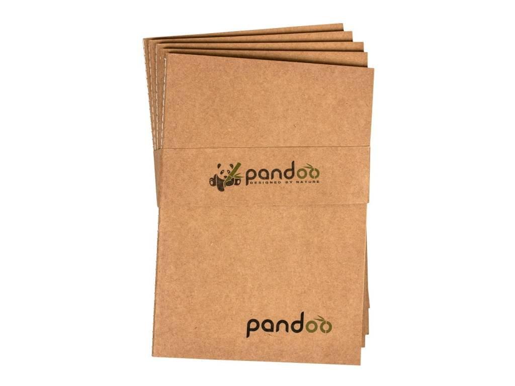 Pandoo Poznámkový blok z bambusových vláken A5 5ks