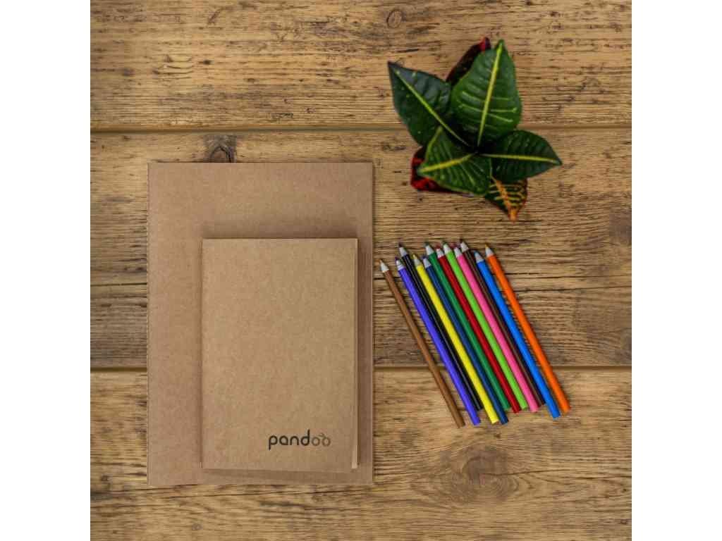 Pandoo Poznámkový blok z bambusových vláken A4 5ks