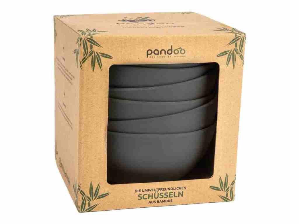 pandoo sada bambusovych misek 6ks cerna