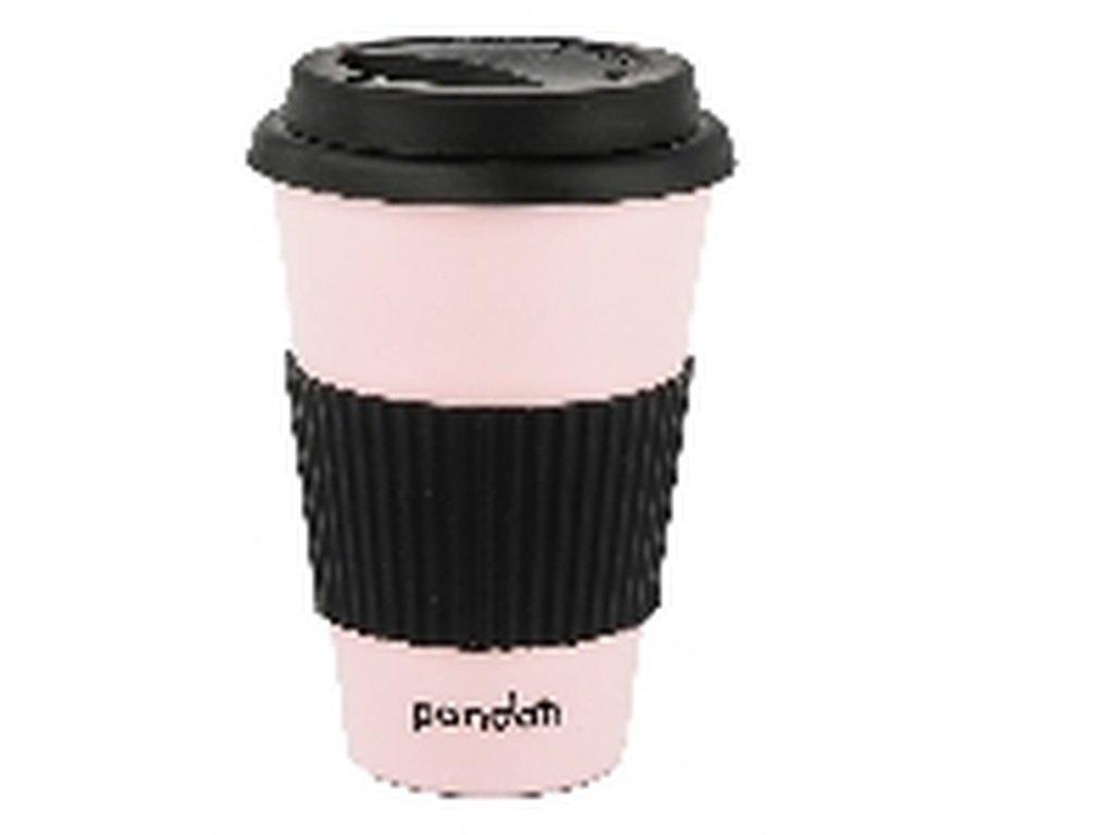 Pandoo bambusový kelímek na kávu a čaj (růžový)