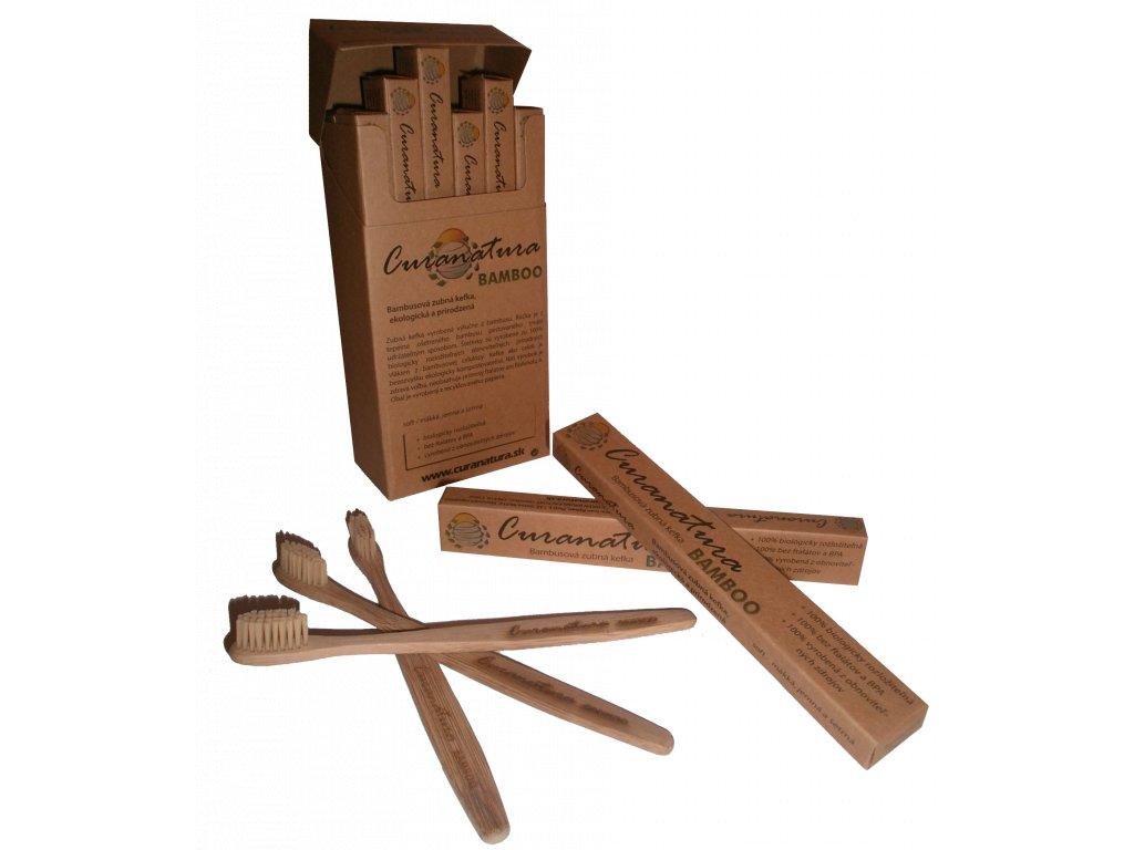 CURANATURA Bamboo bambusový kartáček s bambusovými štětinami