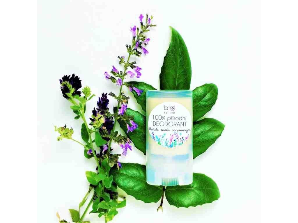 BIORYTHME 100 % přírodní deodorant Pačuli, máta, rozmarýn (malý)