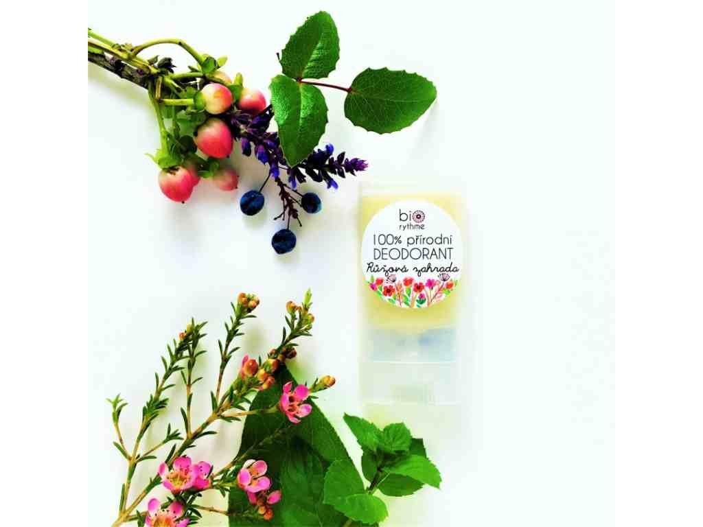 BIORYTHME 100 % přírodní deodorant růžová zahrada (malý)