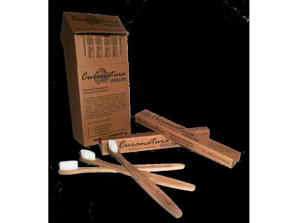 CURANATURA Health Soft zubní kartáček s nylonovými štětinami