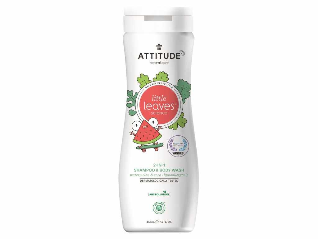 ATTITUDE Dětské tělové mýdlo a šampon (2 v 1) s vůní melounu a kokosu 473 ml