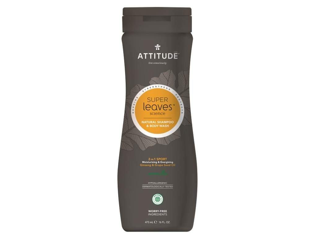 ATTITUDE Přírodní pánský šampon a tělové mýdlo (2v1) pro normální vlasy 473 ml
