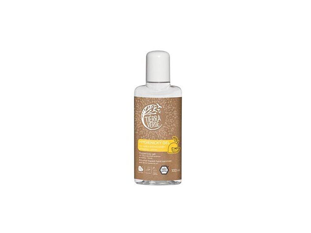 TIERRA VERDE Hygienický gel na ruce s antimikrobiální přísadou citron 100 ml