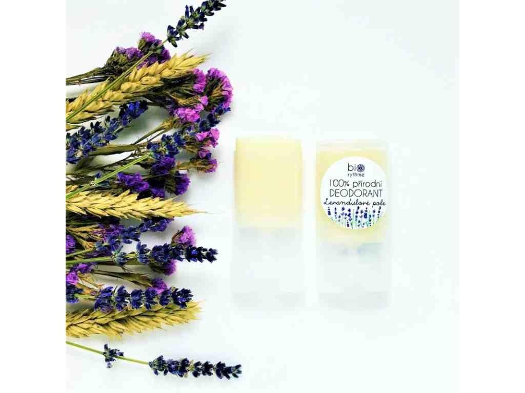 BIORYTHME 100 % přírodní deodorant Levandulové pole (malý)