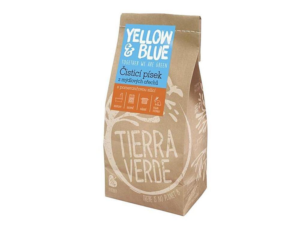 YELLOW & BLUE Čistící písek z mýdlových ořechů 1 kg
