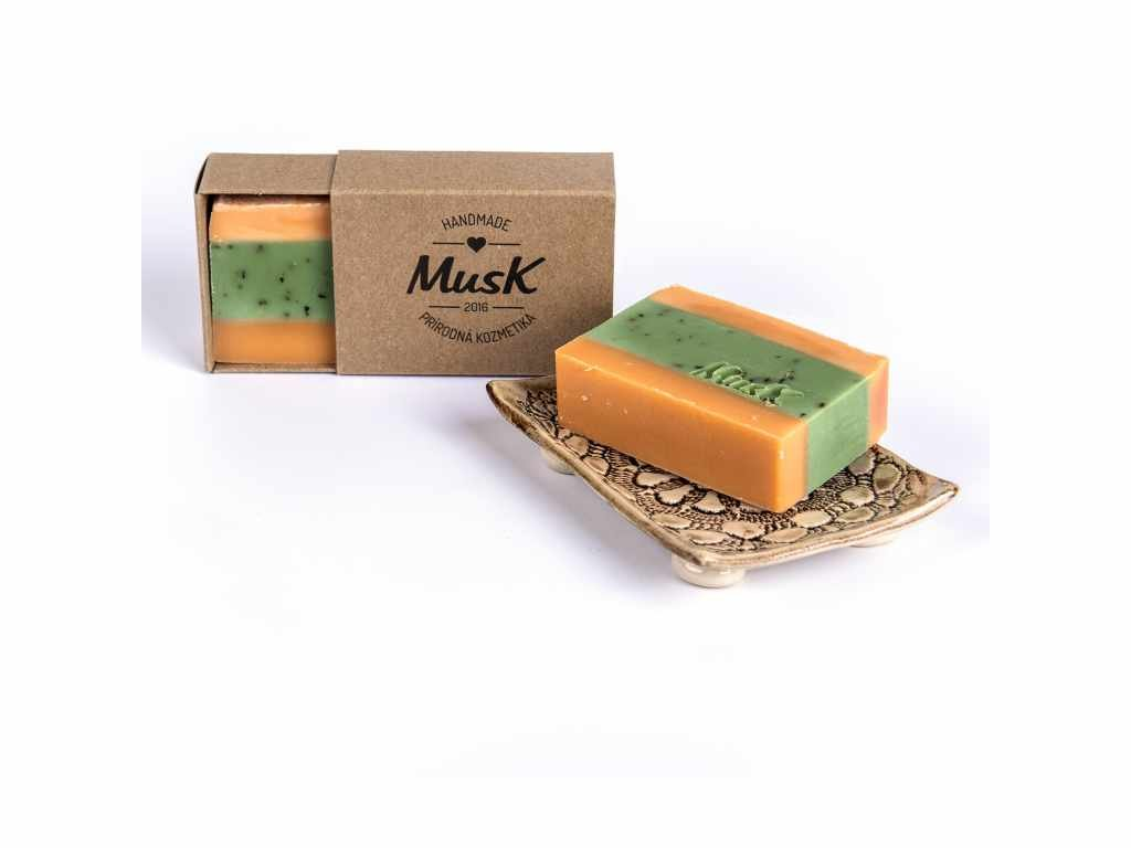 MUSK Pomerančová svěžest Přírodní pomerančovo mátové mýdlo