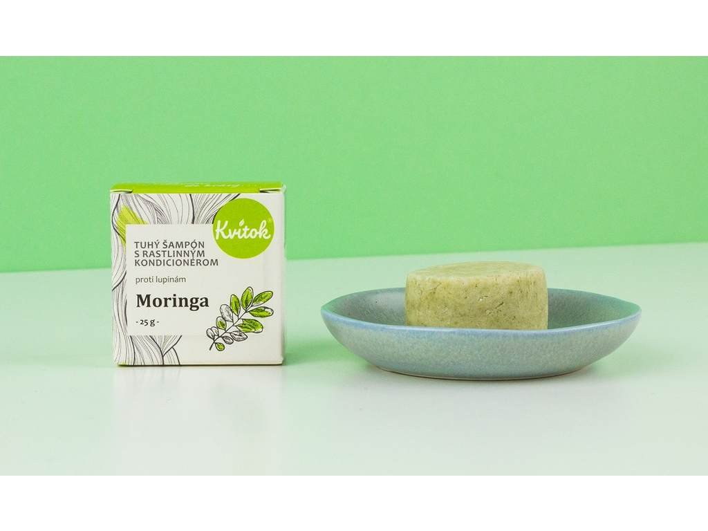 KVÍTOK Moringa tuhý šampón s kondicionérem proti lupům