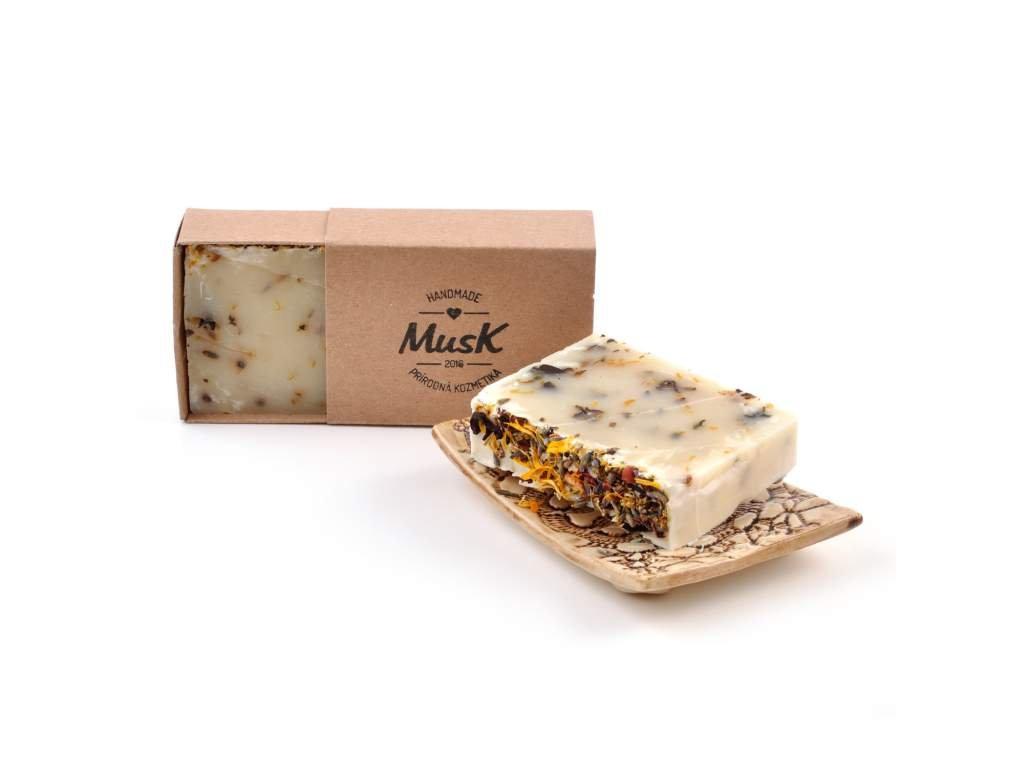 MUSK Rozkvetlá louka Přírodní mýdlo s kakaovým máslem