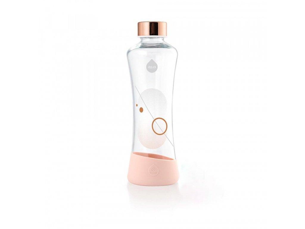 EQUA Metallic Rose Gold 550 ml skleněná láhev