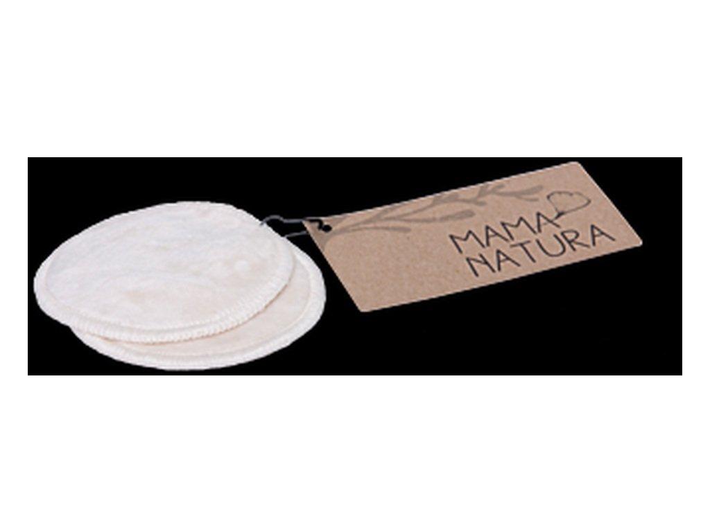 MAMA NATURA Kosmetický tampon pratelný z biobavlněného sametu – malý (7 cm) 2 ks