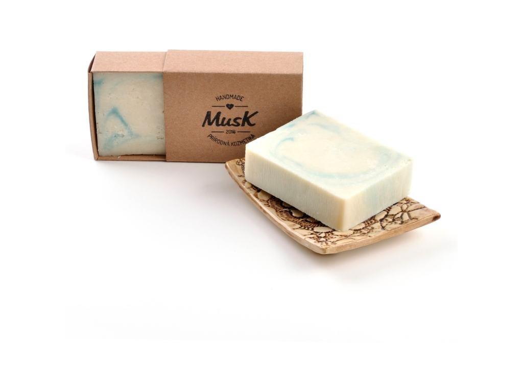 MUSK Sůl nad zlato Přírodní mýdlo s včelím voskem a mořskou solí.