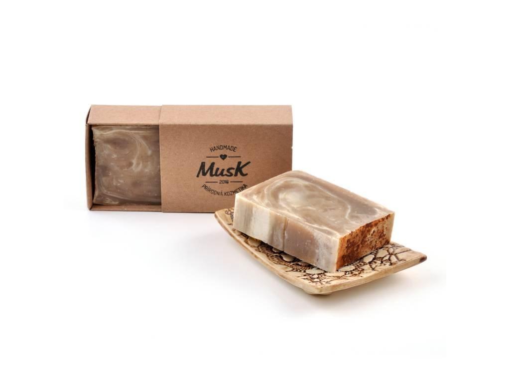 MUSK Hřejivá skořice Přírodní mýdlo s kakaovým máslem