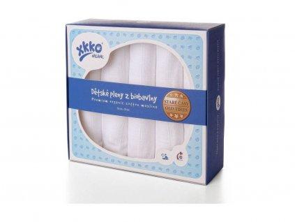 XKKO Dětské pleny z biobavlny Organic 70x70 Staré časy Bílé