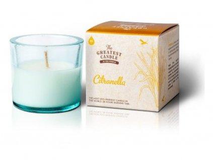The Greatest Candle Vonná svíčka ve skle (75 g) citronela