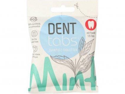DENTTABS Přírodní zubní pasta v tabletách s fluoridem 125 ks