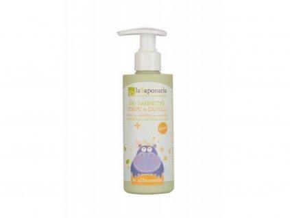 LaSAPONARIA Jemný tělový a vlasový mycí gel pro děti BIO (190 ml) přírodní kosmetika