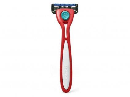 PRESERVE Holící strojek Shave 5 brusinkově červený