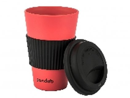 Pandoo bambusový kelímek na kávu a čaj (červený)