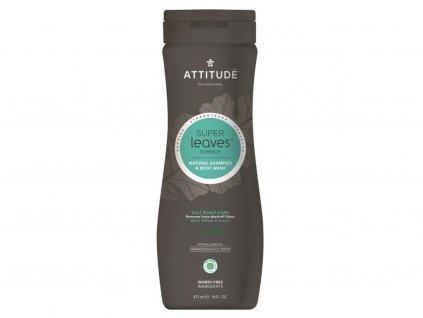 ATTITUDE Přírodní pánský šampon a tělové mýdlo (2v1) proti lupům 473 ml