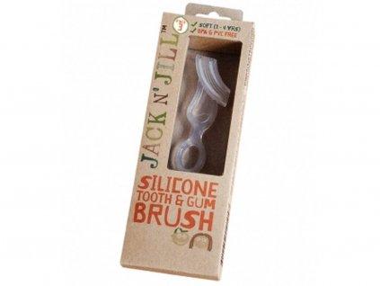 Jack N' Jill Silikonový kartáček na zuby a dásně