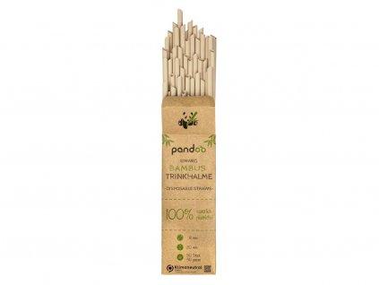 Pandoo Jednorázové bambusové brčko 50 ks