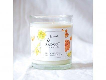 JEMNO Radost sojová svíčka