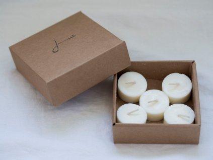 JEMNO Čajové svíčky bez odpadu náhradní náplně