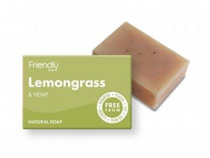 FRIENDLY SOAP Citronová tráva a konopí přírodní mýdlo