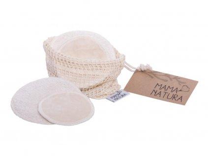 MAMA NATURA Sada kosmetických tamponů z biobavlněného sametu (malý 4 ks, velký 2 ks)