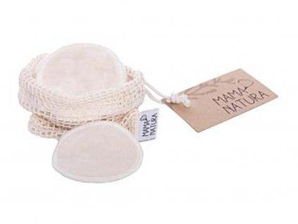 MAMA NATURA Kosmetický tampon pratelný z biobavlněného sametu – malý (7 cm) 6 ks