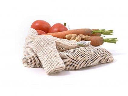 CASA ORGANICA Síťový sáček z biobavlny na ovoce a zeleninu – střední