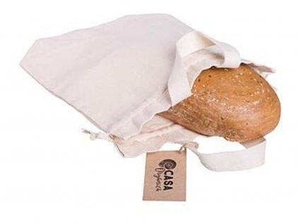 CASA ORGANICA Taška na chleba z biobavlny (26×40 cm)