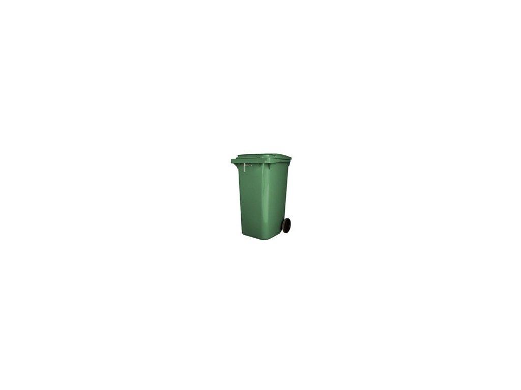 Sběrná nádoba se zámkem 240l -120 -  zelená