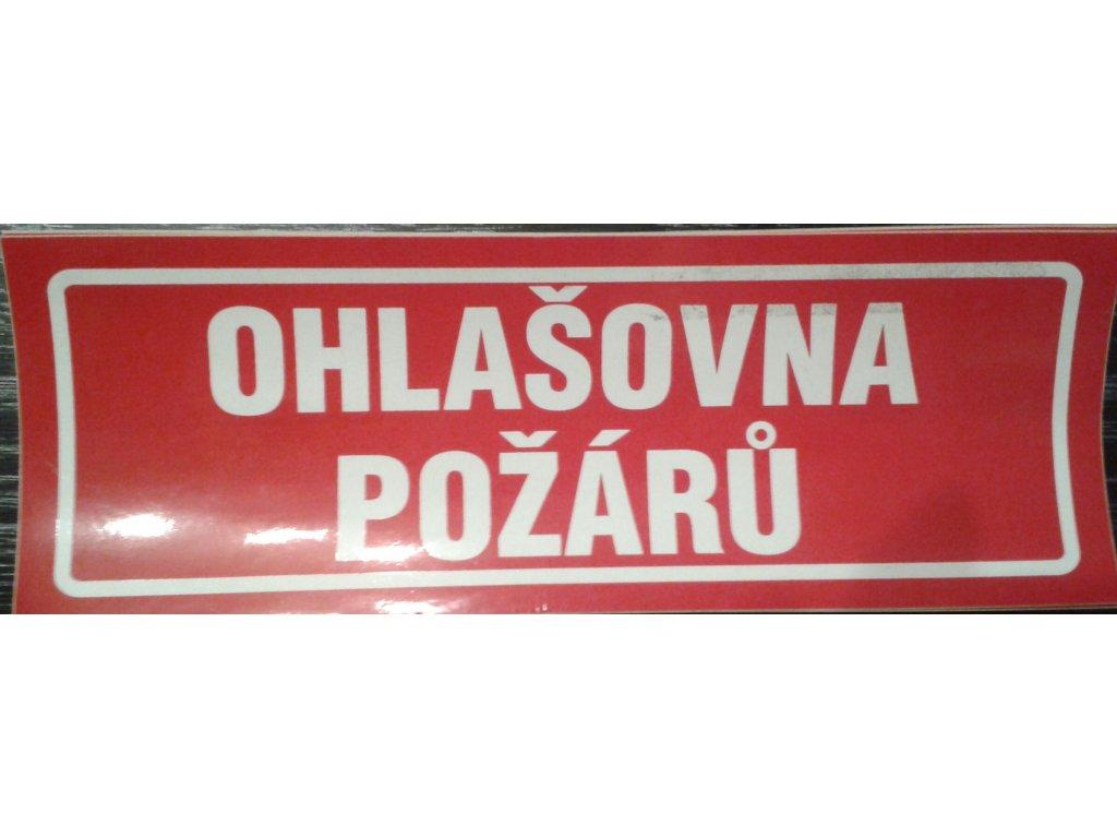 Tabulka - OHLAŠOVNA POŽÁRU