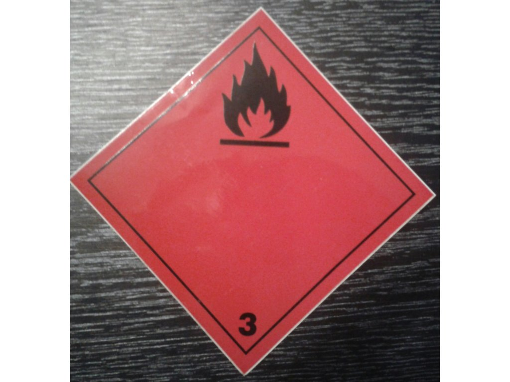 Tabulka - NEBEZPEČÍ POŽÁRU -hořlavé kapaliny - č.3 - černý plamen