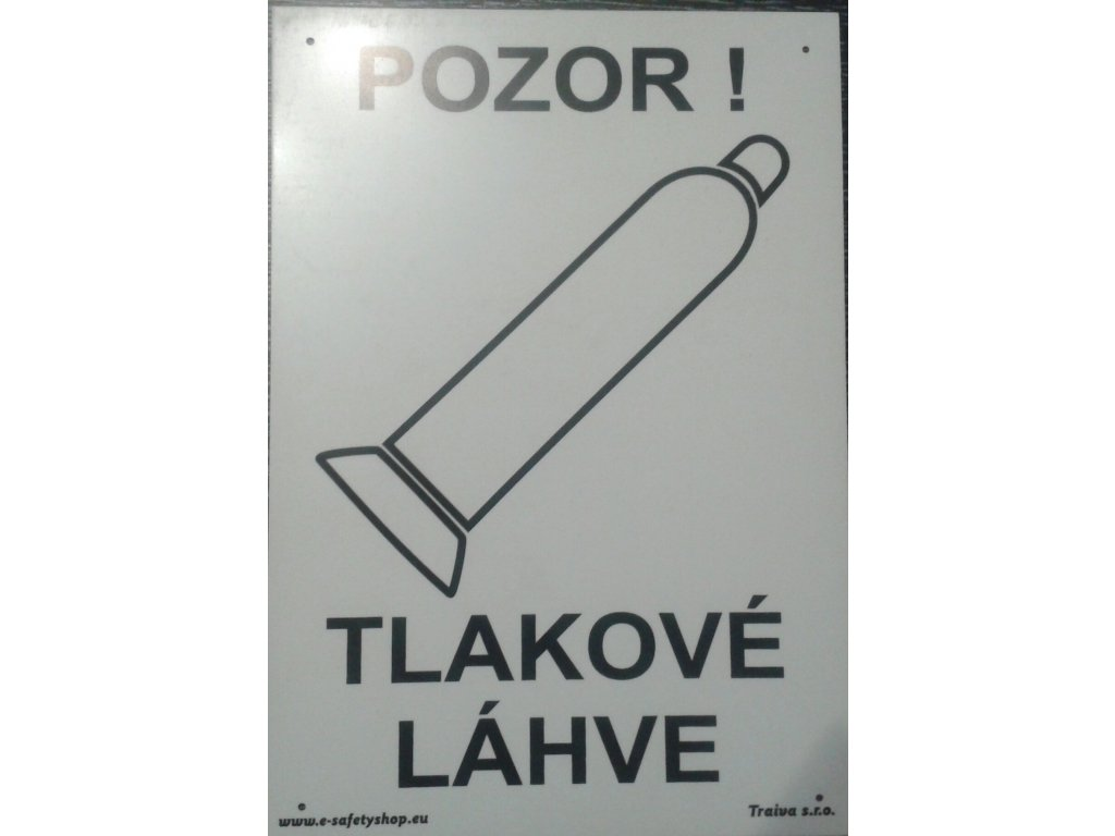 Tabulka - TLAKOVÉ LÁHVE - POZOR!
