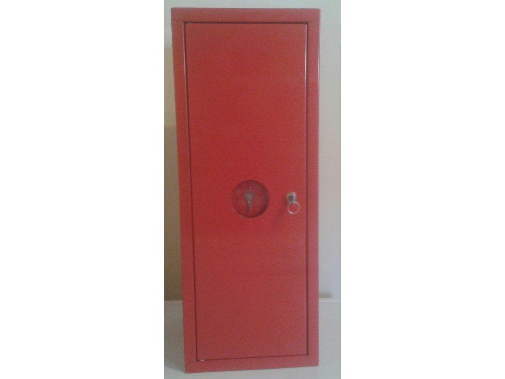 Skřín na hasící přístroj - kovová červená