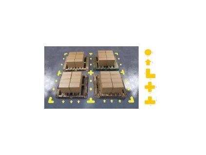 Podlahové značení pro místa na palety