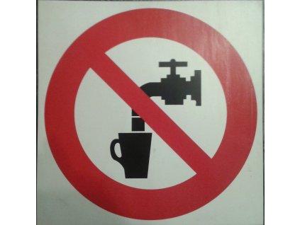 Tabulka - není pitná voda