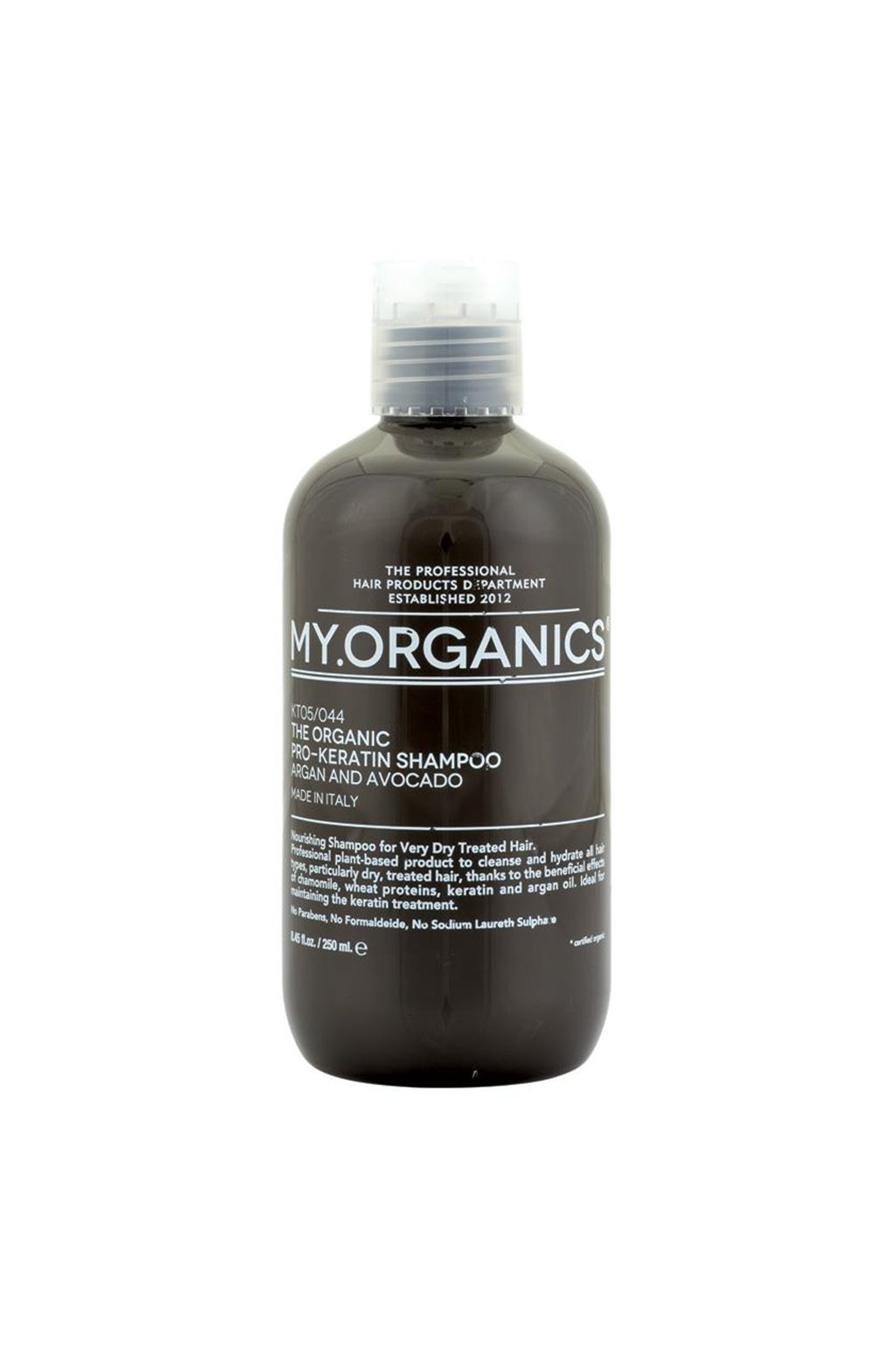 THE ORGANIC PRO KERATIN SHAMPOO ARGAN AND AVOCADO