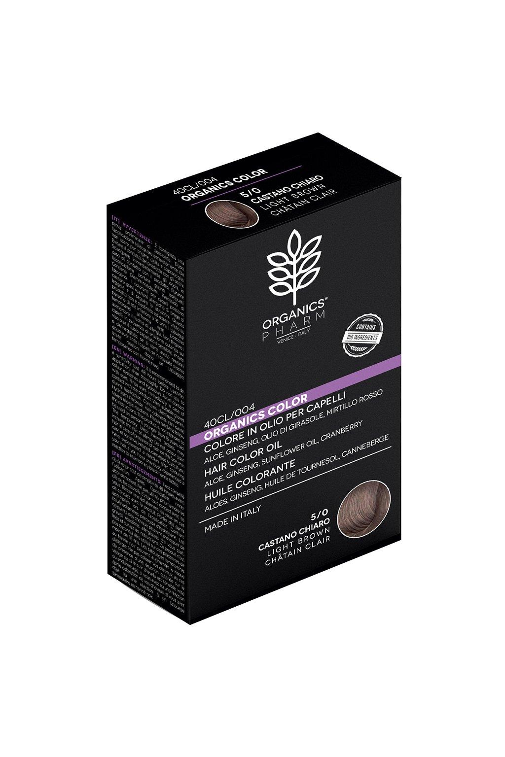 ORGANICS PHARM Organics Color Hair Color Oil 122ml 5 0 Light Brown