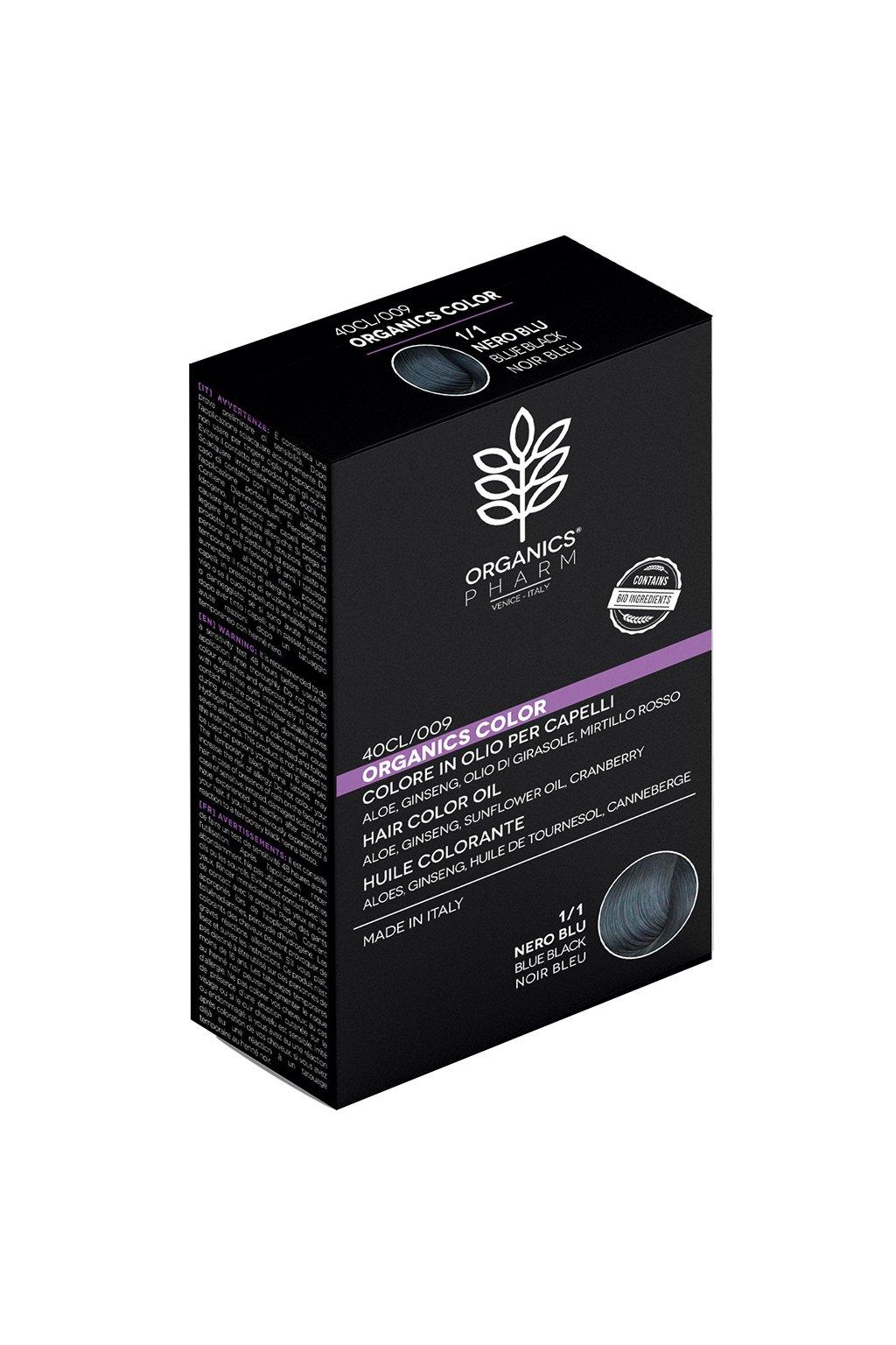 ORGANICS PHARM Organics Color Hair Color Oil 122ml 1 1 Blue Black
