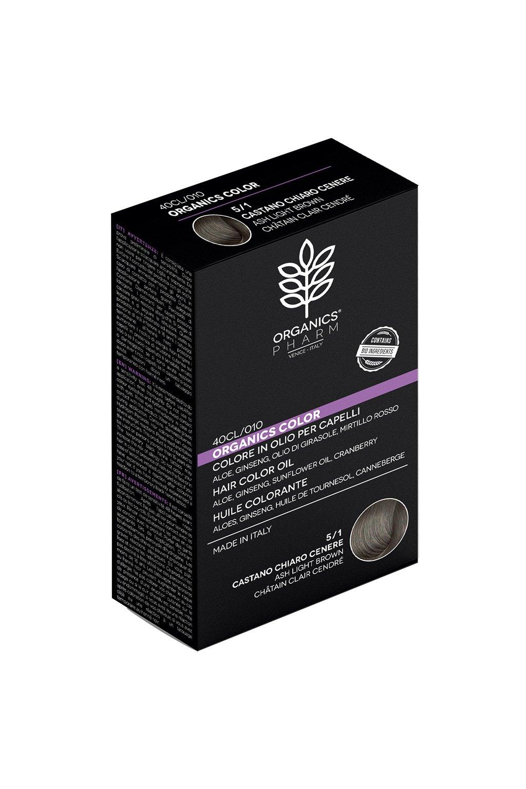 ORGANICS PHARM Organics Color Hair Color Oil 122ml 5 1 Ash Light Brown